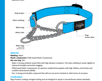 Hc description  obedience half check collar specifications