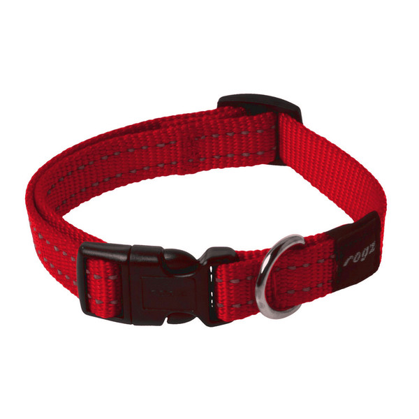 Rogz Medium Dog Collar Reflective - Utility Snake