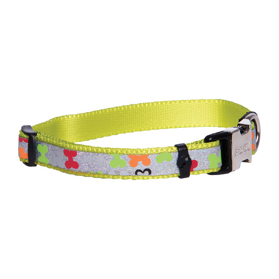 Rogz Lapz Trendy  Dog Collar - Pin Buckle -  Small Fits Neck 7.5-12in  Width 3/8in