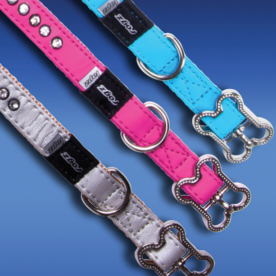 Rogz Dog Collar Luna - Medium Neck 11-14in