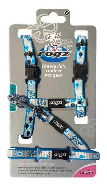 Rogz Reflective Cat Harness and Leash Set 8-12in neck - Reflectocat
