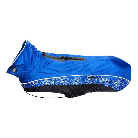 Rogz Dog Raincoat Reflective -  Back 15in Chest 22in Neck 15.5in Rainskinz