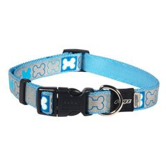 Pups leads side release collar reflecto hb y blue