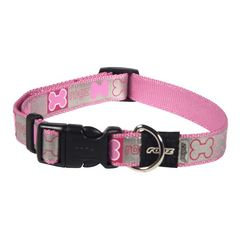 Pups leads side release collar reflecto hb x pink